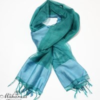Colour Block Sheer Organza Scarf