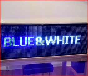 BLUE & WHITE LED SCROLLING SIGN