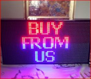 RED + BLUE LED SCROLLING SIGN
