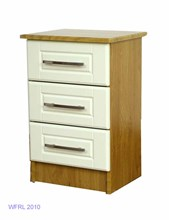 Oak Ivory 3 Drawer Locker