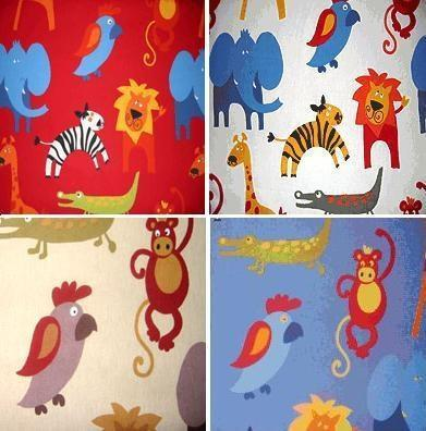 Jungle roar fabric by the metre hippins for baby gifts for Childrens jungle fabric