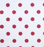 Polka dot nursery wallpaper red and white