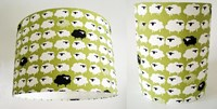 Organic sheep design fabric lampshade for ceiling or bedside lights