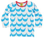 ON SALE More than a Fling Organic tee - Blue Waves