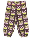 ON SALE Maxomorra Organic sweat pants - Pink Owl