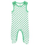 ON SALE - Overalls with feet - green nutty