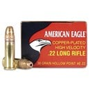 Federal American Eagle 22 LR Copper Plated HP, 38 Grain - 400 Rds