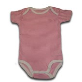 Pink Stripes Adam & Eve Baby Wear Tag Free Romper - Baby Girls Clothes
