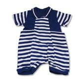 Blue Stripes Sailor Romper - Baby Boy Clothes