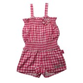 Barbie Mattel Checkered Pink Summer New Design Jumpsuit Overalls - Girls Overalls