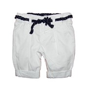 Angelina White Crisp Short and Belt 2 piece Set - Baby Girls Clothes