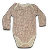 Brown Flowers Long Sleeve Romper/Onesie - Baby Boys & Girls Clothes