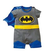 Batman 2 Pcs Outfit (Removable Cape & Half Legs) - Baby Boy Clothes