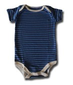 Blue On Black Stripes Adam & Eve Baby Wear Tag Free Romper - Baby Boys Clothes