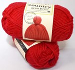 Cleckheaton country aran 10 ply Red
