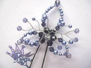 Hair Pin - Lily - Deep Purple/Purple