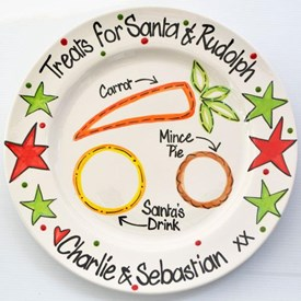 Snacks for Santa and Rudolph Personalised