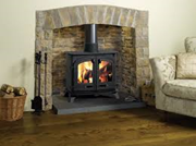 Yeoman Exe - Double-sided, double depth Woodburning Stove
