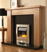 PureGlow Stanford Wooden Fireplace Package with Zara Electric fire