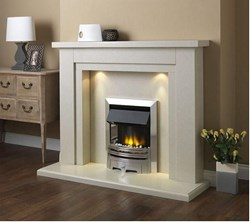 PureGlow Hanley Perla Suite package with Electric Fire
