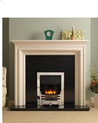 PureGlow Wenlock Agean Limestone Fireplace Package with Electric Fire