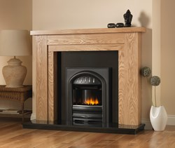 PureGlow Hanley fireplace Suite with Gas Fire