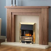 PureGlow Hanley Walnut Finish Suite with Electric Fire