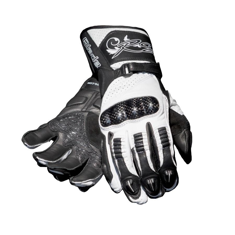 Ladies leather gloves australia - Rst Blade Ladies Leather Gloves White Black