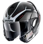 Shark Evoline Series 3 ECE Hataum Black/White/Red Helmet