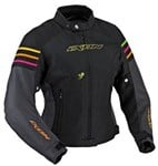 (CLEARANCE SALE) - Ixon Electra Colorblock Ladies Textile Jacket - Black
