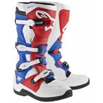 ALPINESTARS TECH 5 BOOTS - WHITE/RED/BLUE