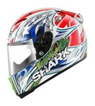 (SHARK CLEARANCE SALE) - Shark Race-R Pro Corser Helmet - White/Blue