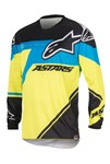 (CLEARANCE SALE) - Alpinestars 2016 RACER SUPERMATIC JERSEY - BLACK/BLUE/YELLOW