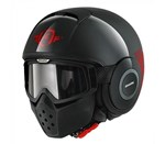 (SHARK CLEARANCE) - Shark Raw Trinity Helmet - Black/Red