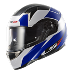 LS2 FT2 FF396 DART Helmet - Thunderbolt White Blue