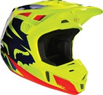 FOX 2016 V2 RACE HELMET - BLUE/YELLOW
