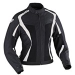 (CLEARANCE SALE) - IXON RAINBOW HP LADIES TEXTILE JACKET - BLACK/WHITE
