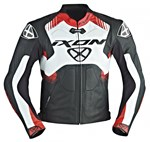 Ixon Voltage Air Leather Jacket (Black/White/Red)