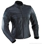Ixon Crystal Rock Ladies Leather Jacket Black