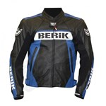 (CLEARANCE SALE) - Berik CE Team Leather Jacket - Black/Blue