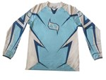 (CLEARANCE MSR) - MSR M9 Axxis Men's MX Jersey - Blue White Plain