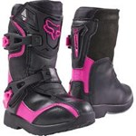Fox 2017 Kids PeeWee Comp 5 Boots - Black / Pink