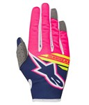 Alpinestars 2018 Youth Radar Flight Gloves - Dark Blue/Pink Fluo/White