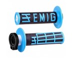 ODI EMIG MX LOCKON GRIPS 2S BLACK/BLUE