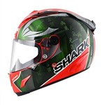 Shark Race-R Pro Replica Sykes ECE Helmet - Red/Green/Chrome