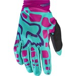 (CLEARANCE SALE) - FOX 2017 DIRTPAW WOMENS GLOVES - PURPLE / PINK