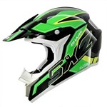 (SHARK CLEARANCE) - SHARK SX2 Dooley MX Helmet - Black/Green
