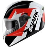 (SHARK CLEARANCE) - Shark Skwal Sticking Helmet - Black/White/Red