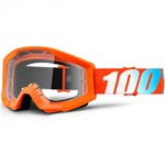 100% PERCENT STRATA JR. YOUTH GOGGLES - ORANGE