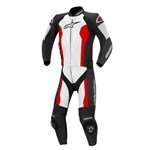 (CLEARANCE SALE) - Alpinestars Challenger 1-Piece Leather Suit (Black/White/Red)